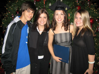 Graduation Day - Jonathon, Amanda, Jennifer and Sarah